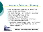insurance reforms ultimately