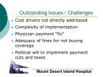 outstanding issues challenges