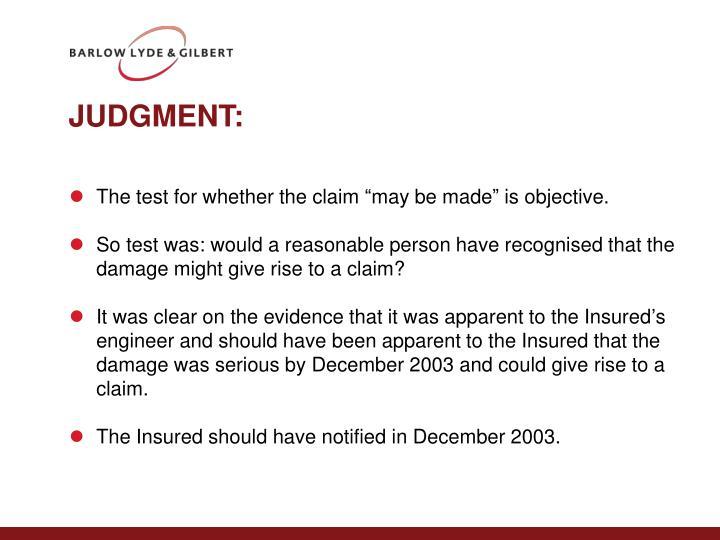 JUDGMENT: