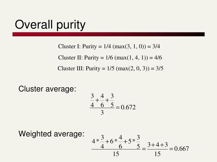 Overall purity