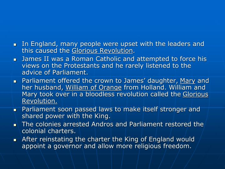 In England, many people were upset with the leaders and this caused the