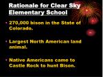 rationale for clear sky elementary school1