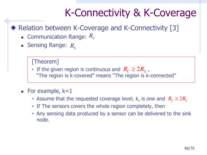 K-Connectivity & K-Coverage