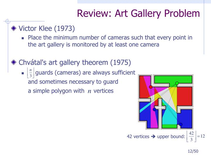 Review: Art Gallery Problem
