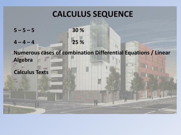 CALCULUS SEQUENCE