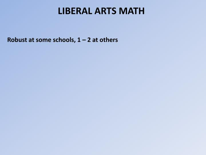 LIBERAL ARTS MATH