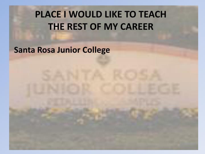 PLACE I WOULD LIKE TO TEACH