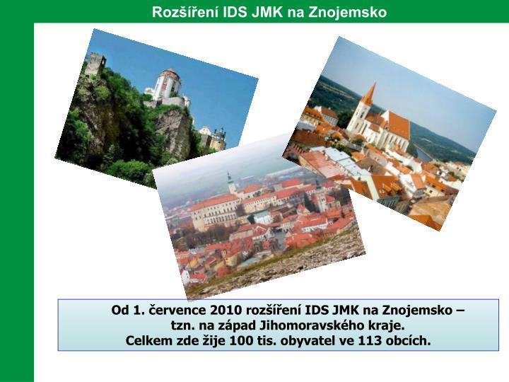 Rozšíření IDS JMK na Znojemsko