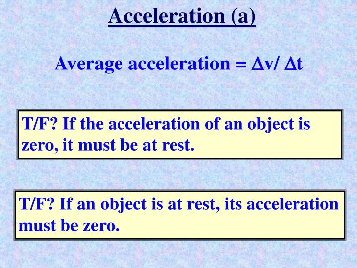 Acceleration (a)