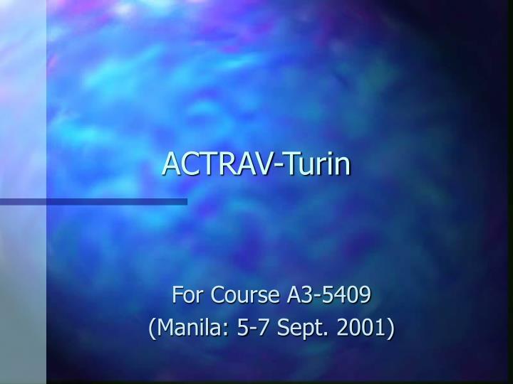 ACTRAV-Turin