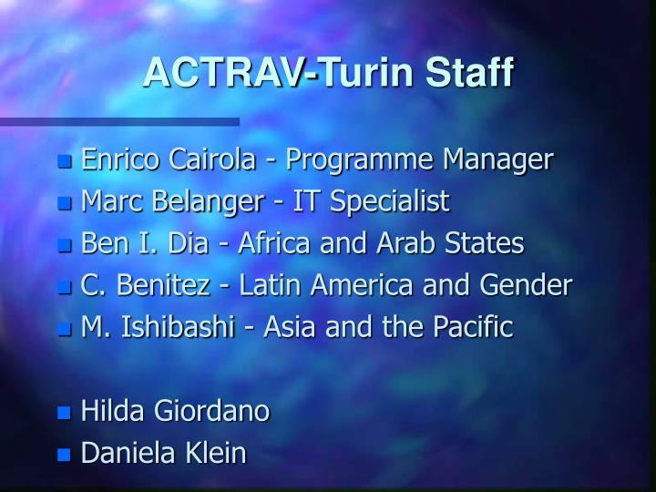 Actrav turin staff