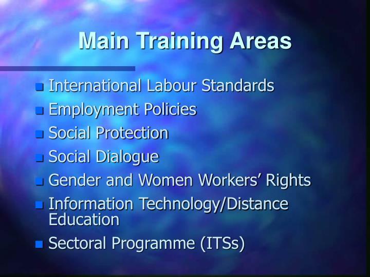 Main Training Areas
