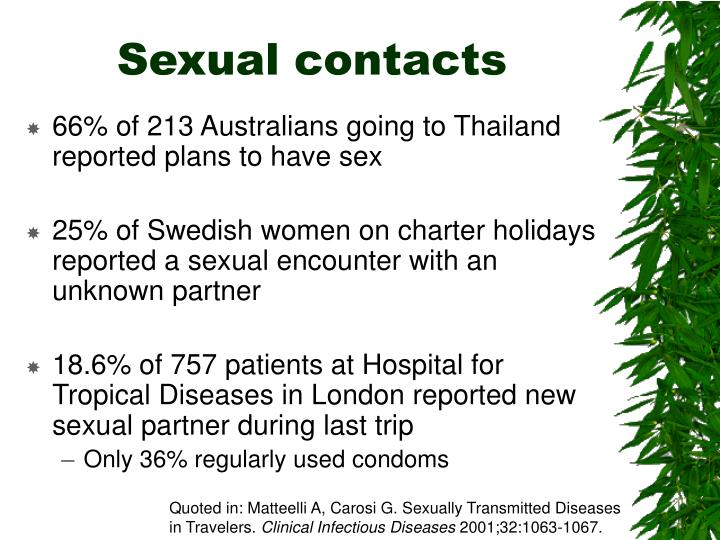 Sexual contacts