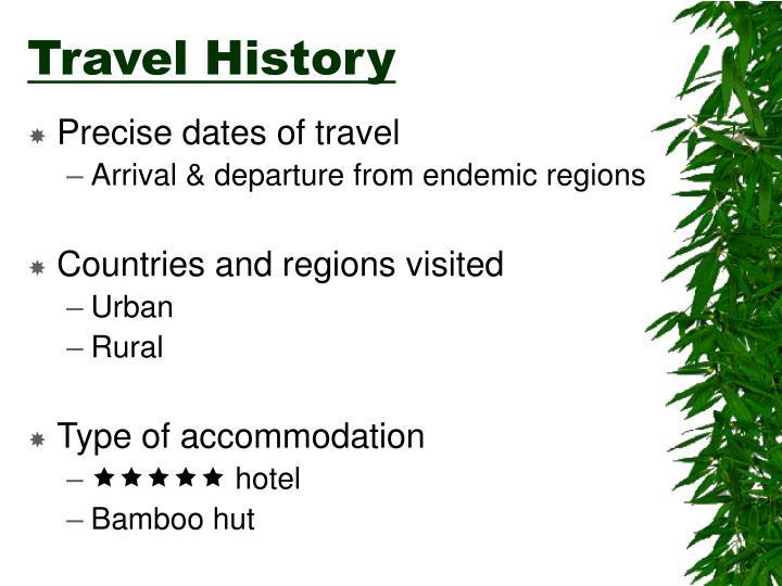 Travel History