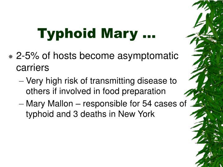 Typhoid Mary …