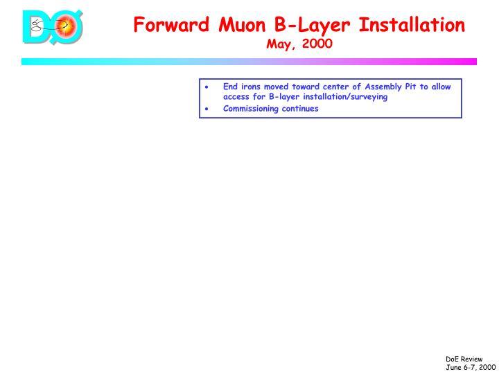 Forward Muon B-Layer Installation