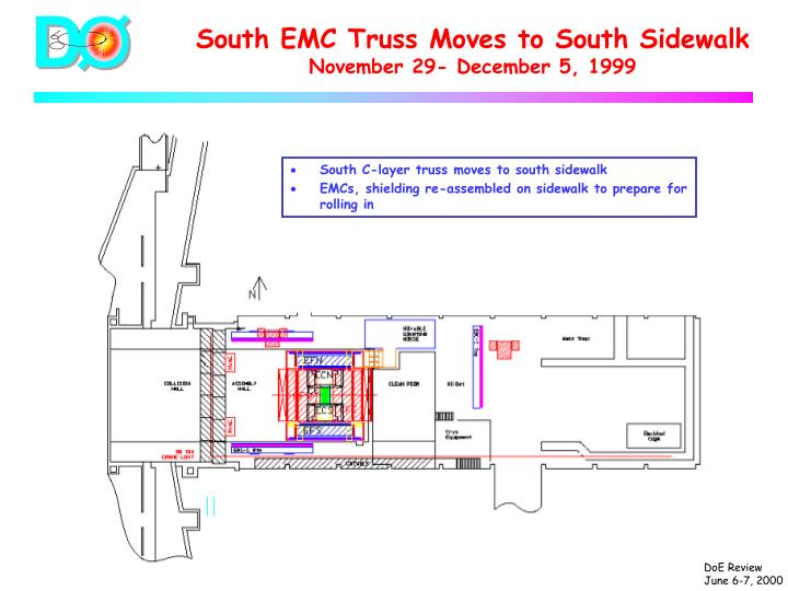 South EMC Truss Moves to South Sidewalk