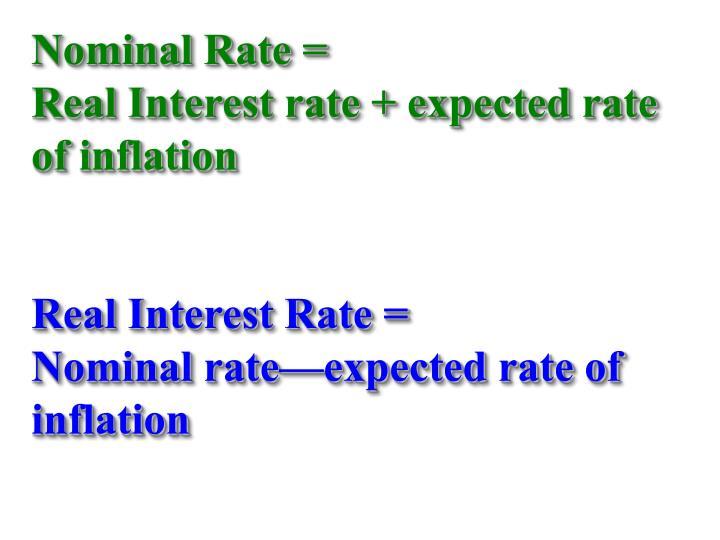 Nominal Rate =