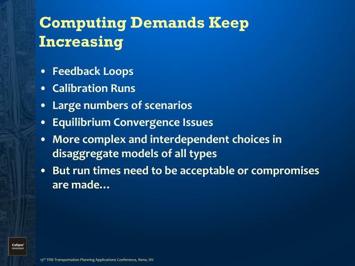 Computing demands keep increasing