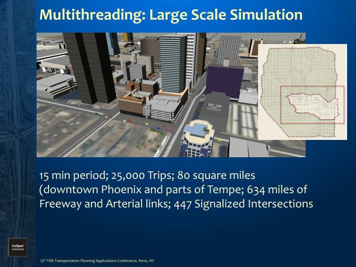 Multithreading: Large Scale Simulation