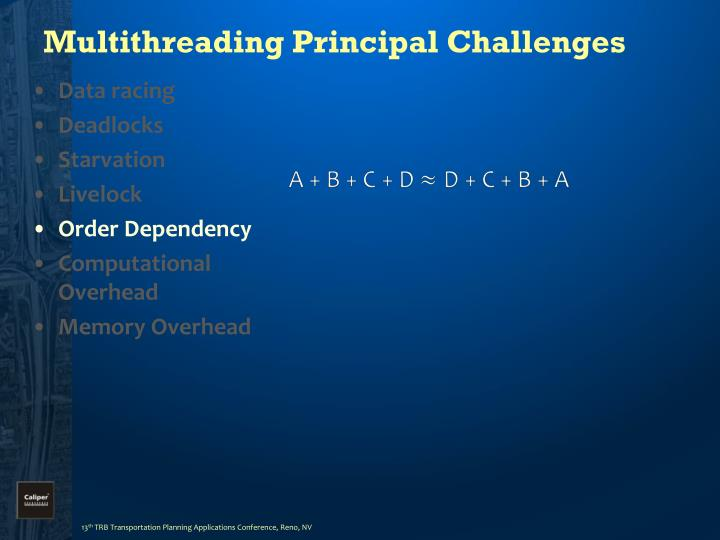 Multithreading Principal Challenges