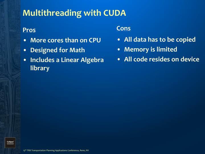 Multithreading with CUDA