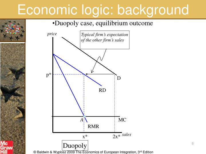 Economic logic: background