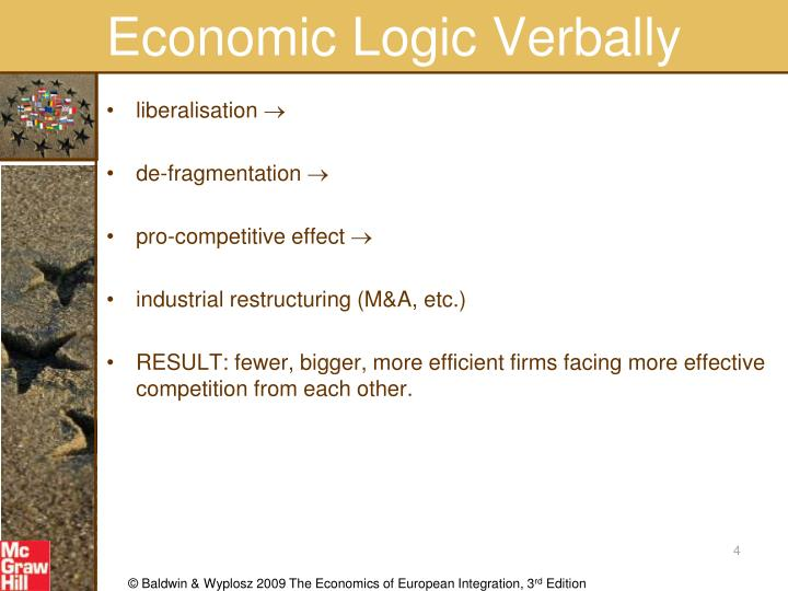 Economic Logic Verbally