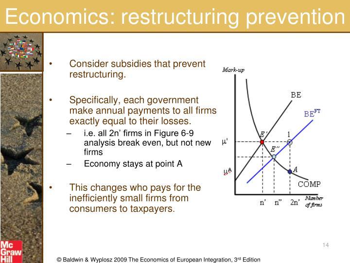 Economics: restructuring prevention