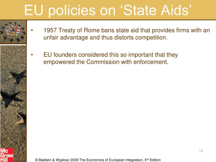 EU policies on 'State Aids'