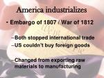 america industrializes
