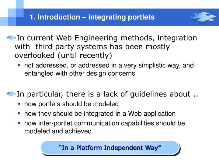 1. Introduction – integrating portlets