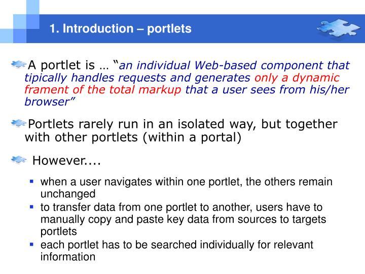 1. Introduction – portlets