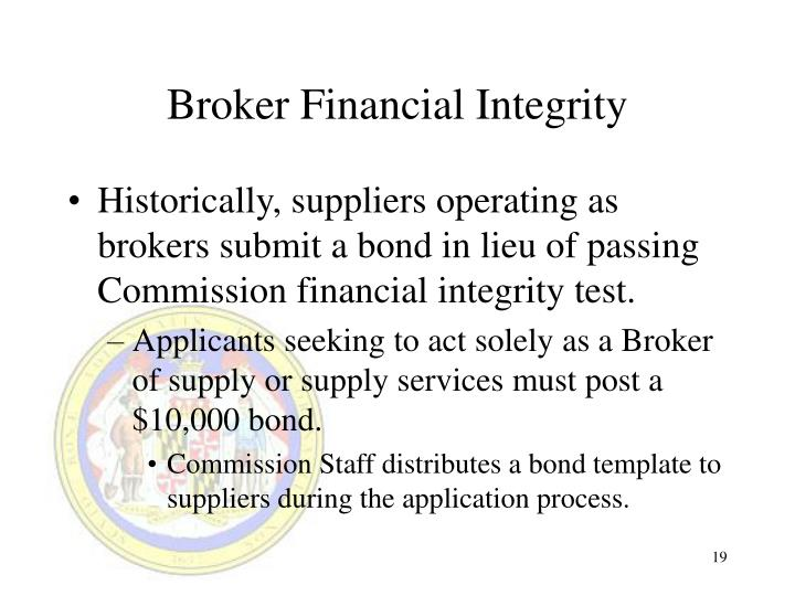 Broker Financial Integrity