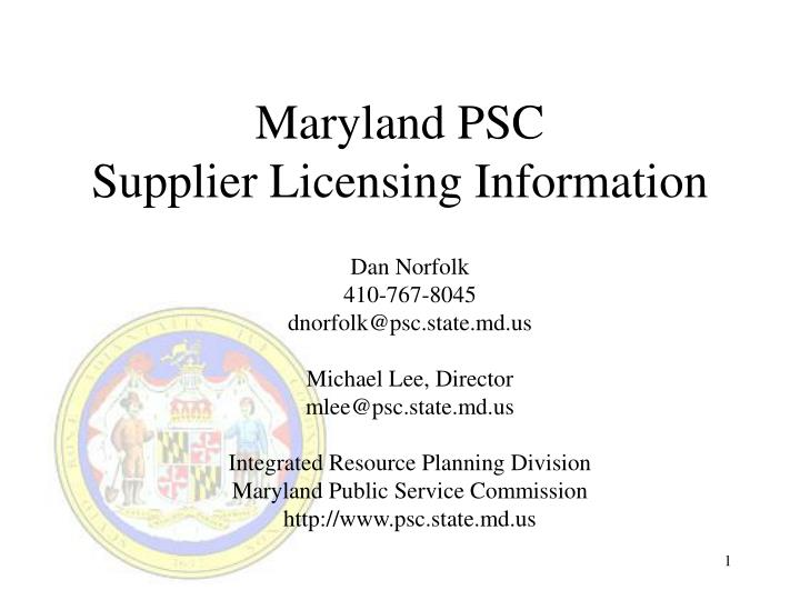 Maryland PSC