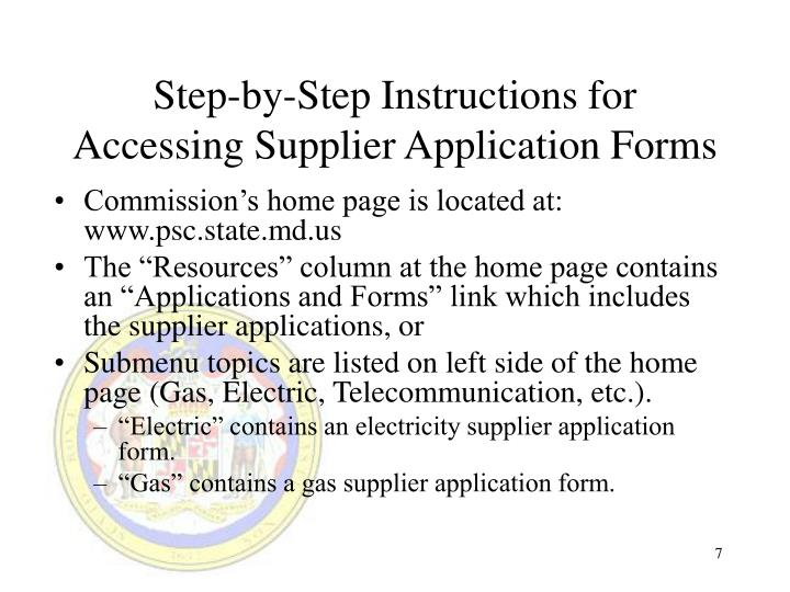 Step-by-Step Instructions for Accessing Supplier Application Forms