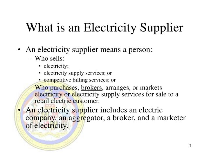 What is an Electricity Supplier