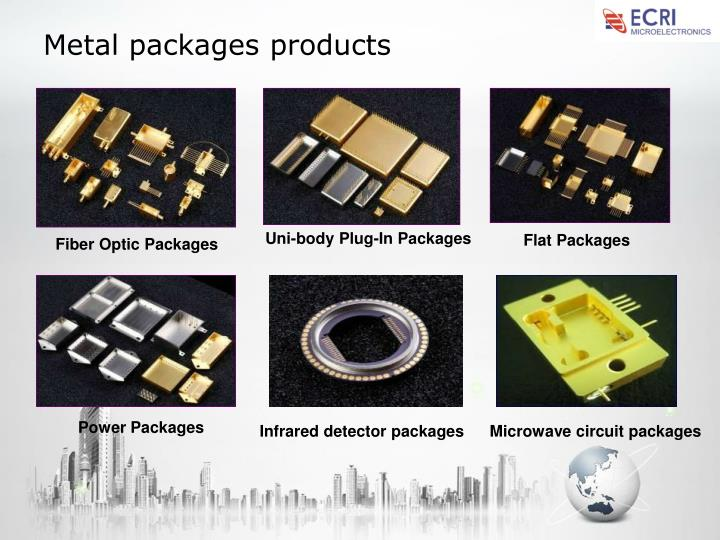 Metal packages products