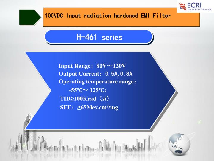 100VDC Input radiation hardened EMI Filter