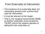 from externality to intervention