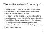 the mobile network externality 1