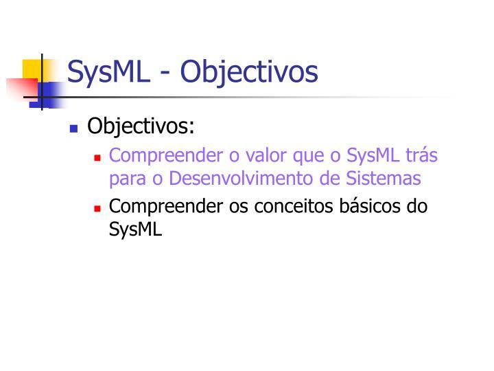 Sysml objectivos