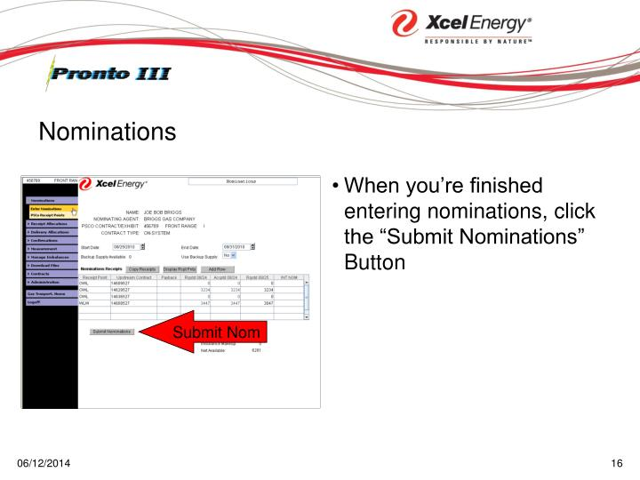 "When you're finished entering nominations, click the ""Submit Nominations"" Button"