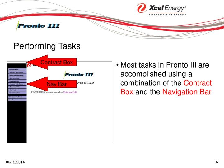 Most tasks in Pronto III are accomplished using a combination of the