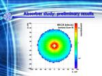 absorber study preliminary results