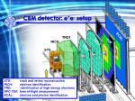 cbm detector e e setup