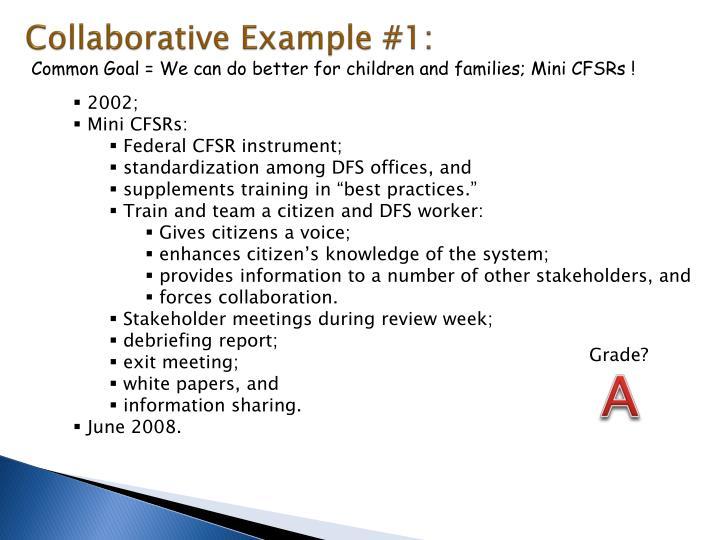 Collaborative example 1