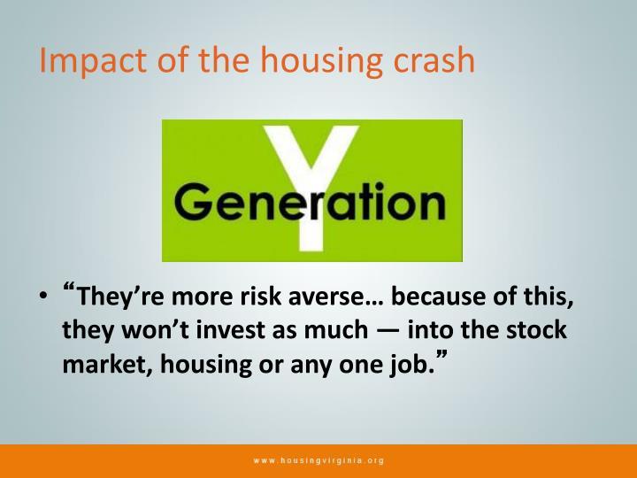 Impact of the housing crash