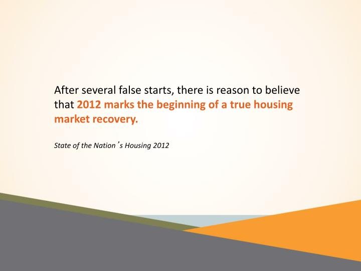 After several false starts, there is reason to believe that
