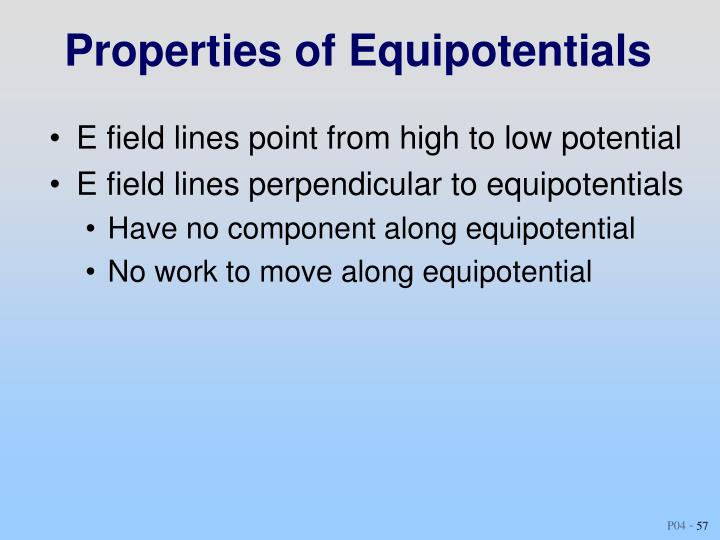 Properties of Equipotentials